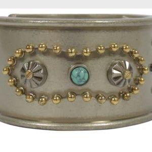 Coach Jewelry - Coach Western Rivets Wide Cuff Bracelet New